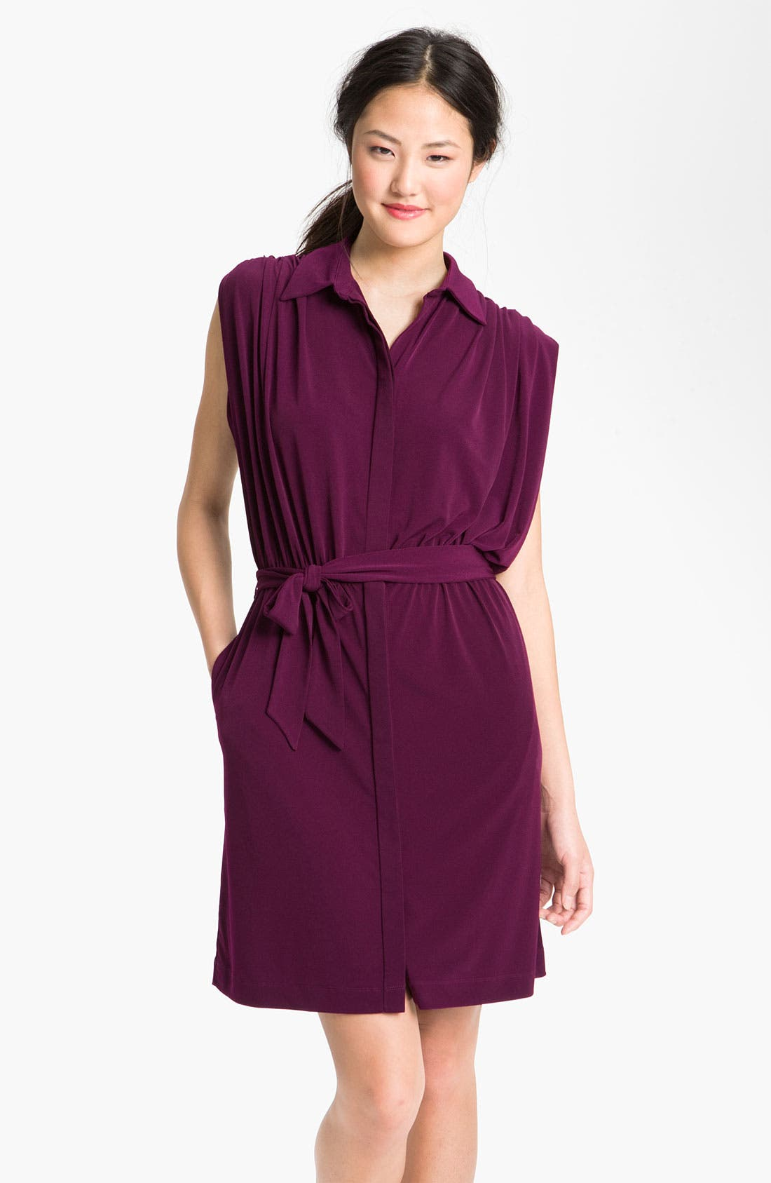 Main Image - Suzi Chin for Maggy Boutique Dolman Sleeve Jersey Shirt Dress