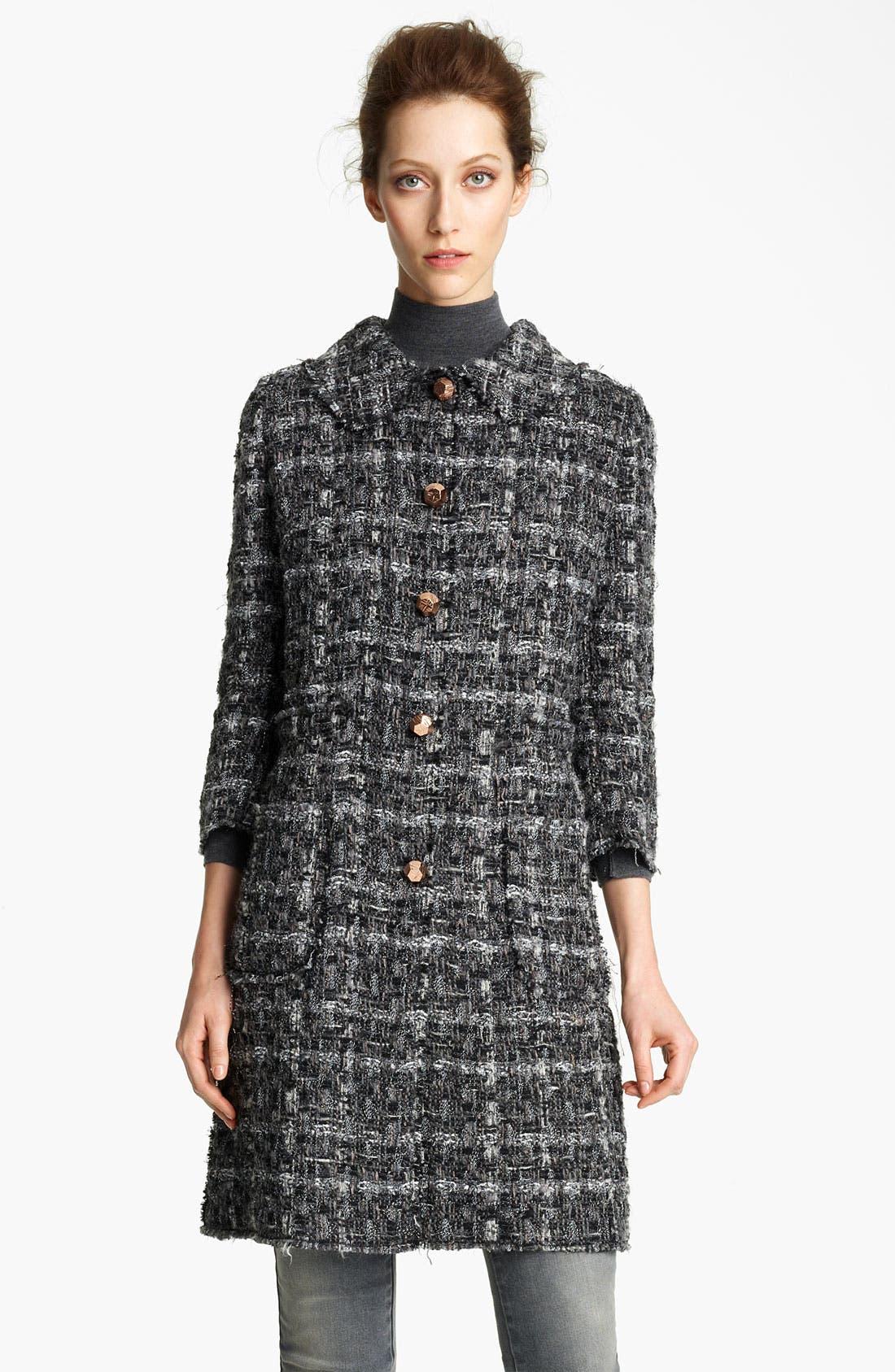 Main Image - Dolce&Gabbana Metallic Button Tweed Coat