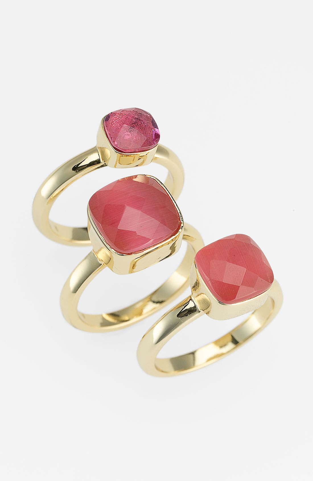 Main Image - Ariella Collection Stone Stack Rings (Set of 3) (Nordstrom Exclusive)
