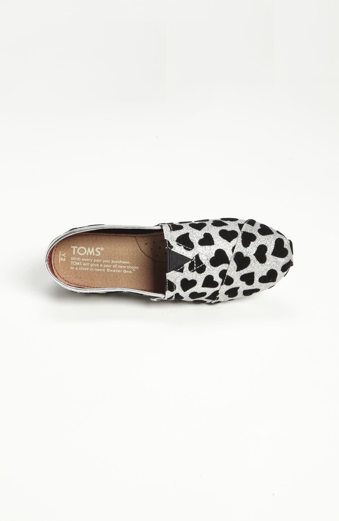 Alternate Image 3  - TOMS 'Classic Youth - Hearts' Slip-On (Toddler, Little Kid & Big Kid)