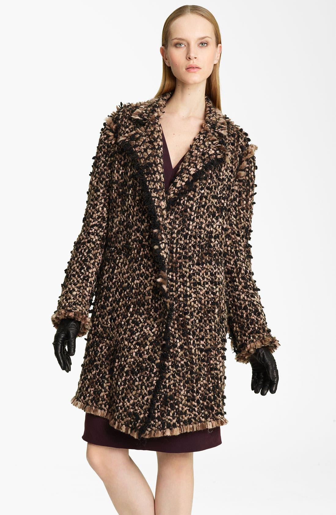 Alternate Image 1 Selected - Lanvin 'Winter' Tweed Coat
