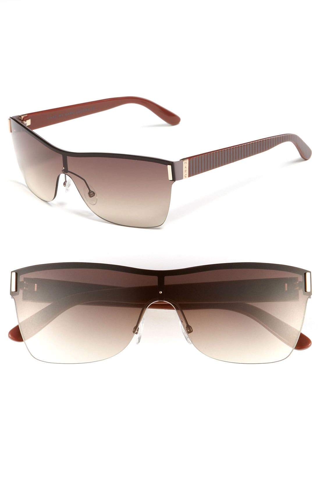 Alternate Image 1 Selected - MARC BY MARC JACOBS Rimless Shield Sunglasses