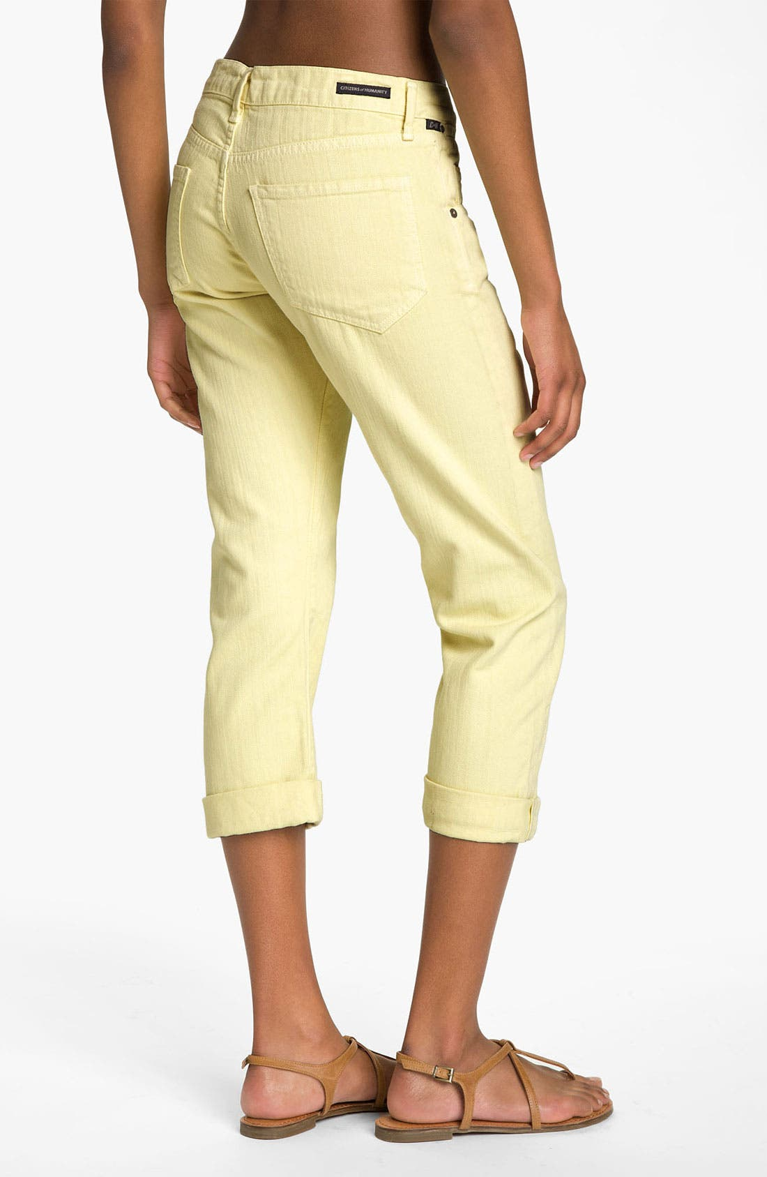 Alternate Image 2  - Citizens of Humanity 'Dylan' Crop Loose Fit Jeans (Banana Rama)