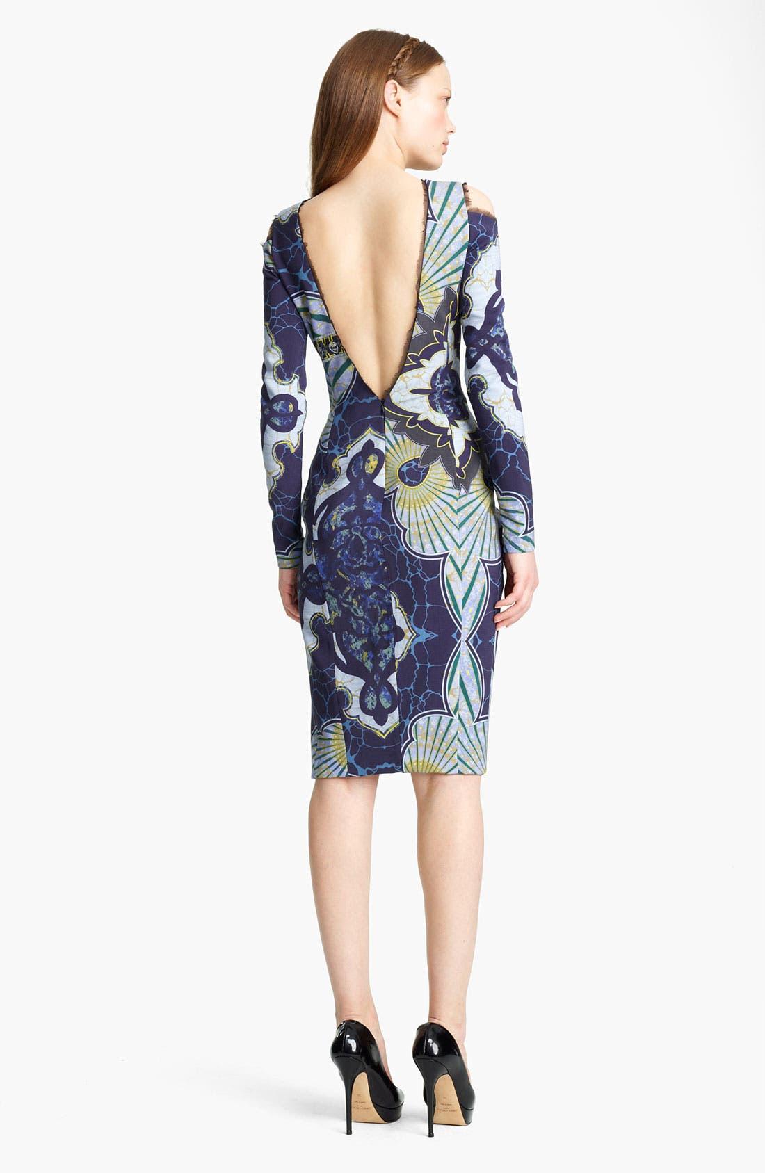 Alternate Image 2  - Emilio Pucci Cutout Shoulder Stretch Wool Dress