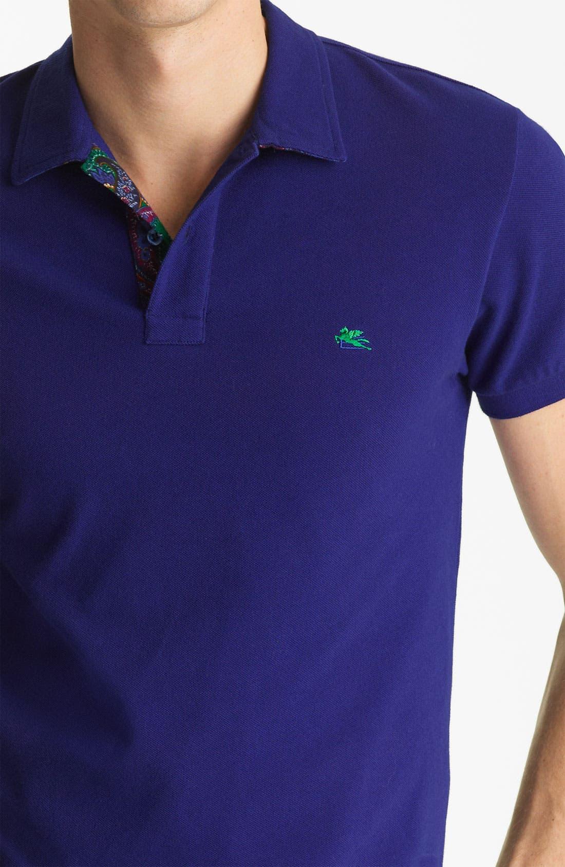 Alternate Image 3  - Etro Short Sleeve Polo