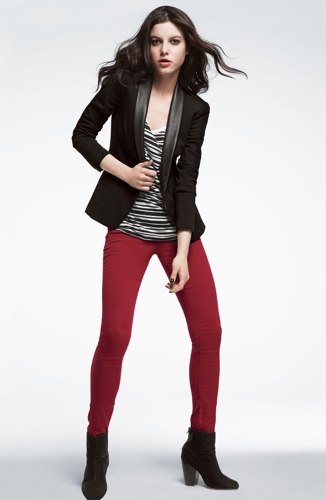 Alternate Image 4  - rag & bone/JEAN Skinny Zip Detail Stretch Jeans