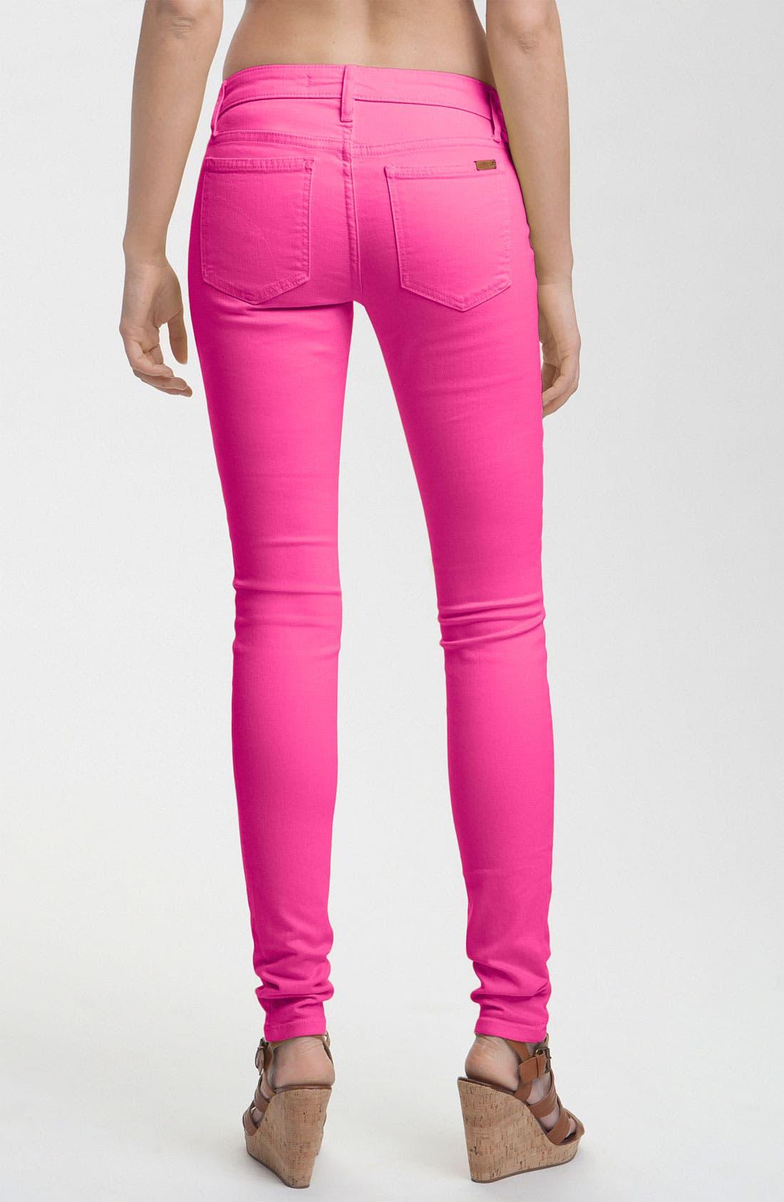 Alternate Image 2  - Joe's Skinny Stretch Jeans (Pink Glo)