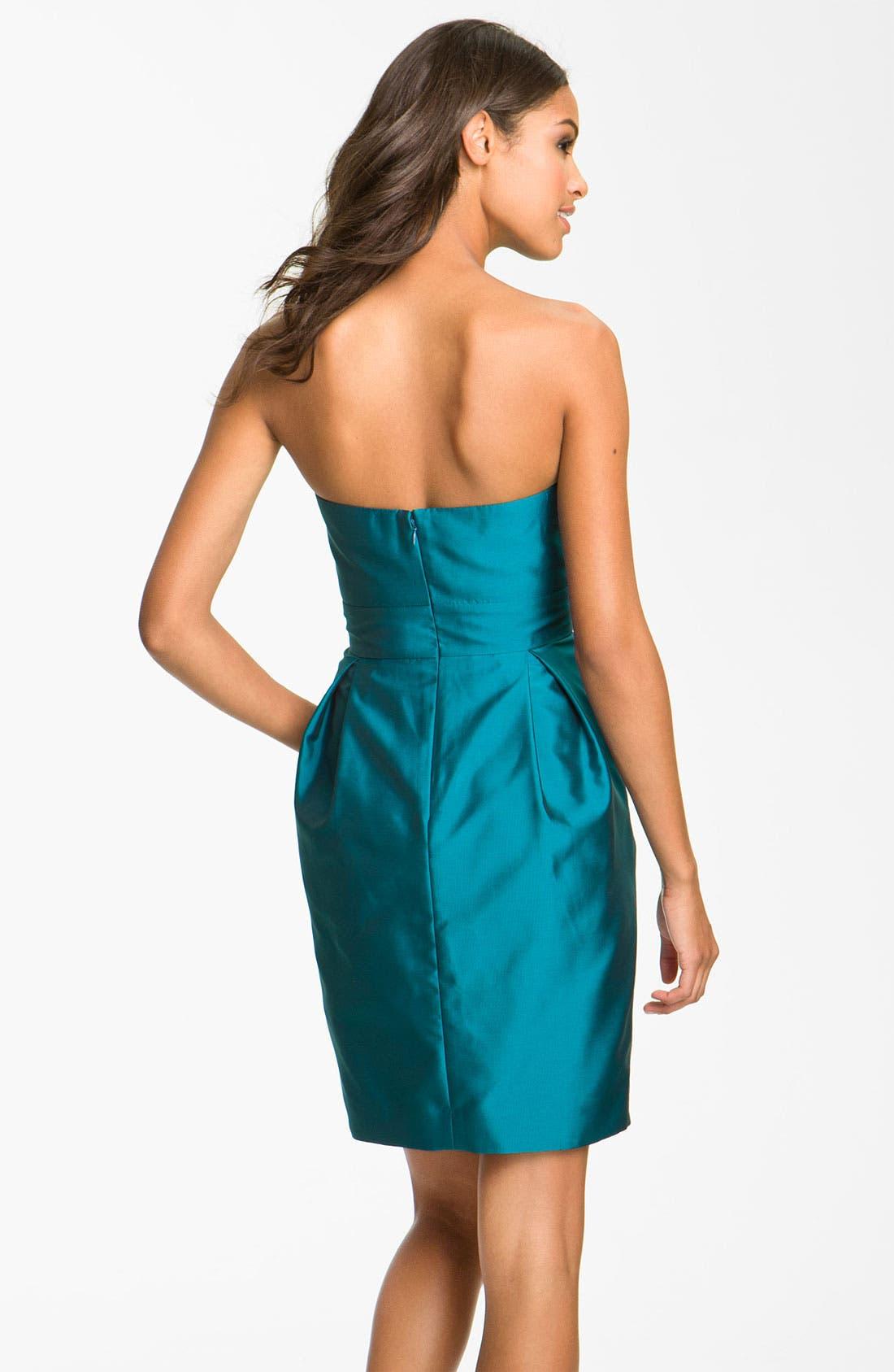 Alternate Image 2  - Eliza J Sweetheart Taffeta Dress