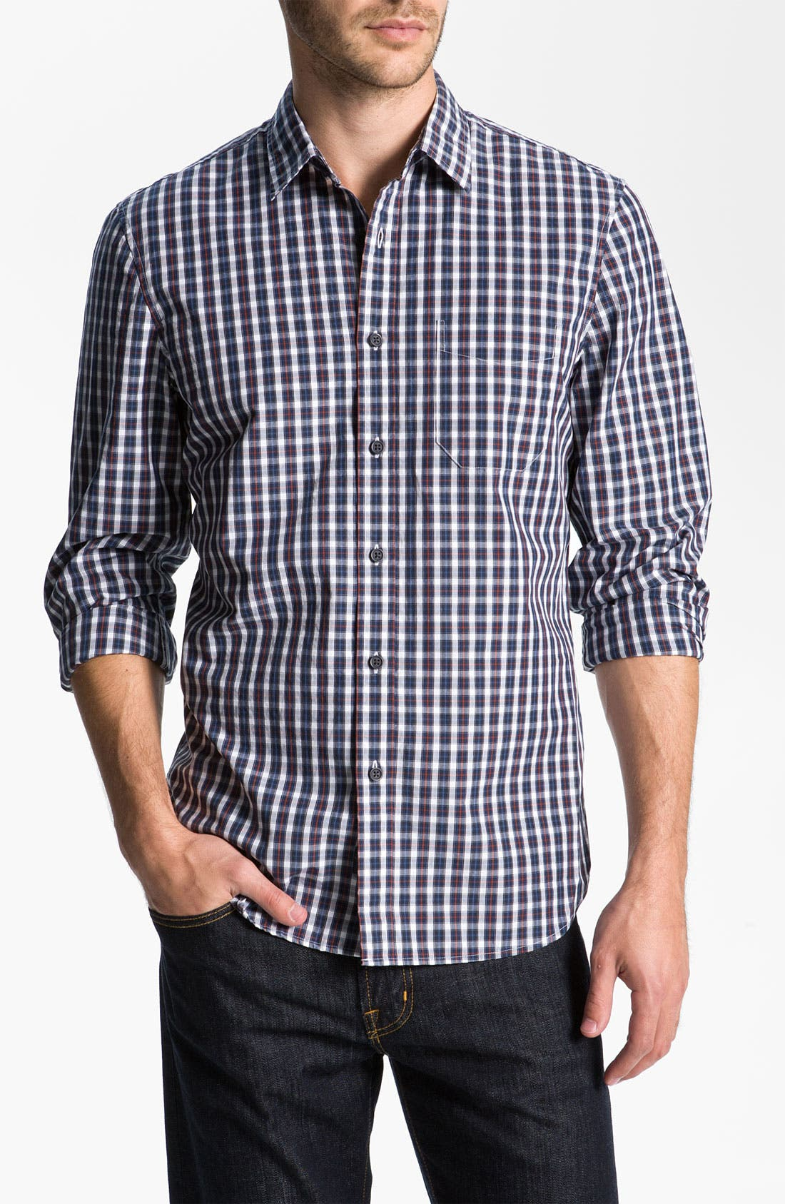 Main Image - Wallin & Bros. Plaid Sport Shirt