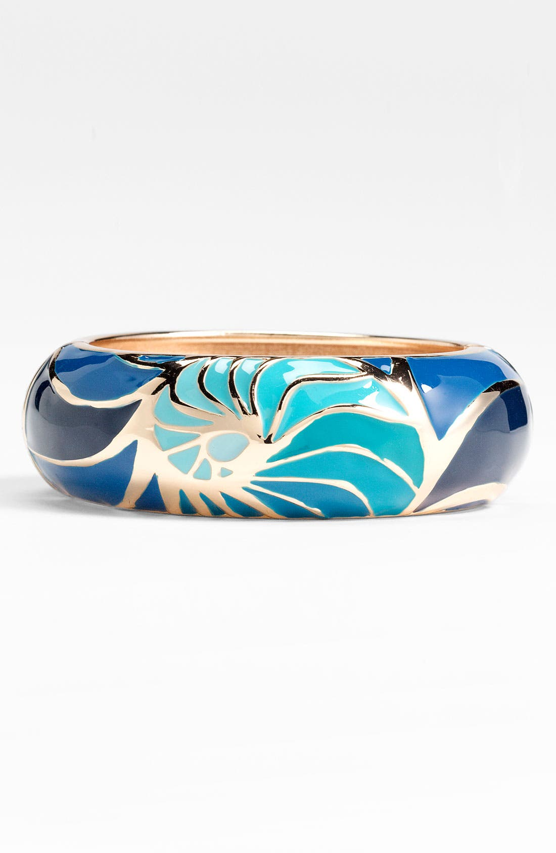 Alternate Image 1 Selected - Sequin Large Conch Shell Enamel Bangle