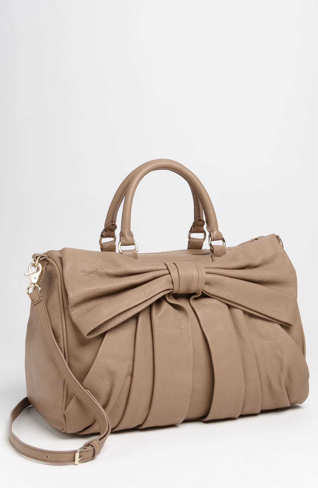 Alternate Image 1 Selected - RED Valentino 'Bow' Leather Bowler Bag
