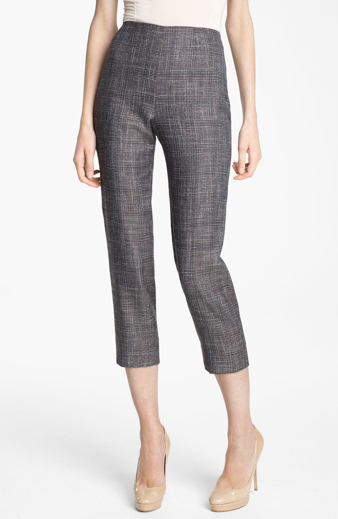 Alternate Image 1 Selected - Piazza Sempione 'Audrey' Madras Crop Pants