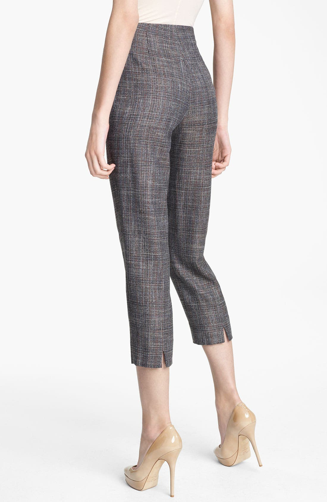 Alternate Image 2  - Piazza Sempione 'Audrey' Madras Crop Pants