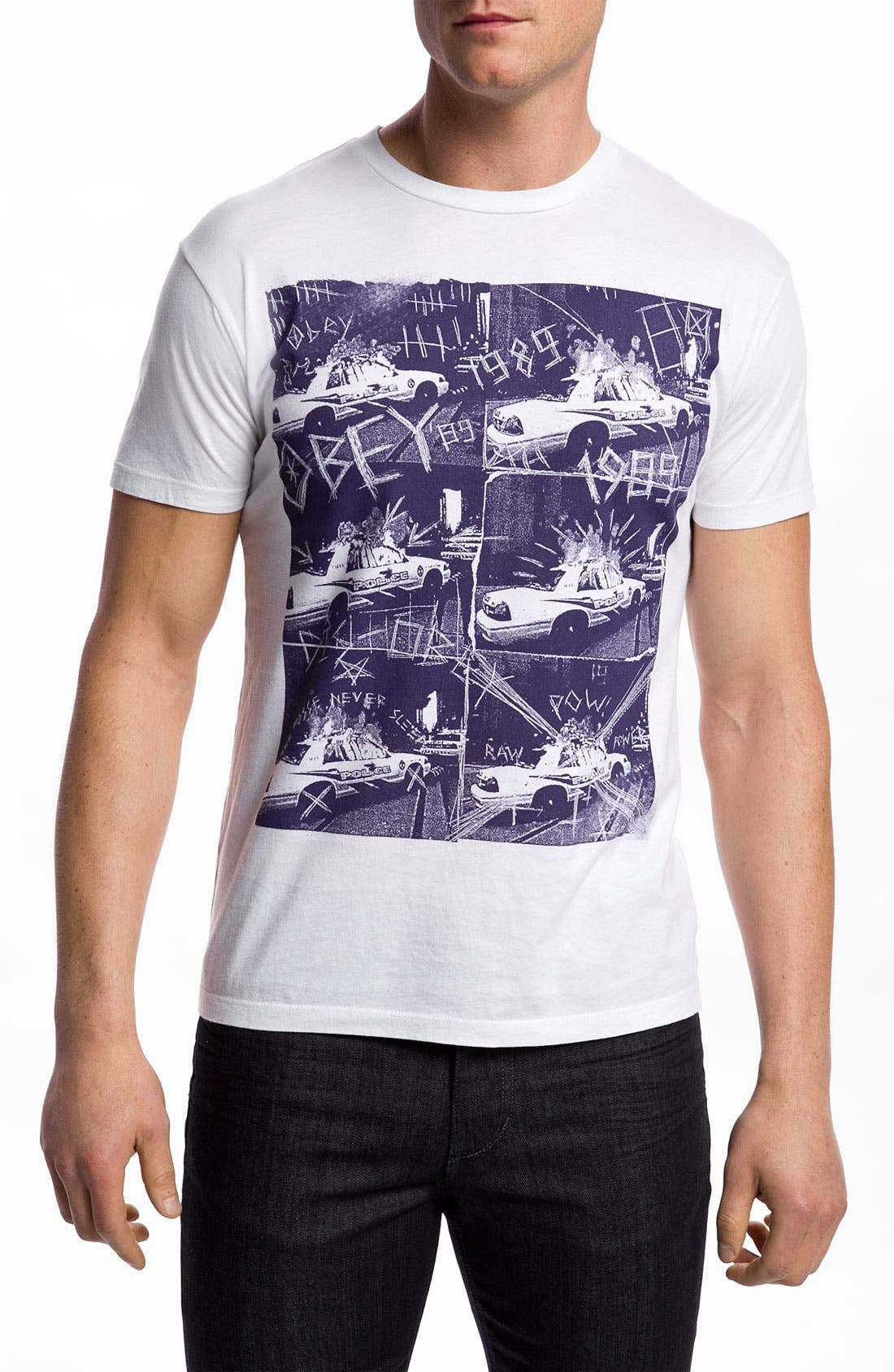Main Image - Obey 'Combat Collage' Graphic T-Shirt