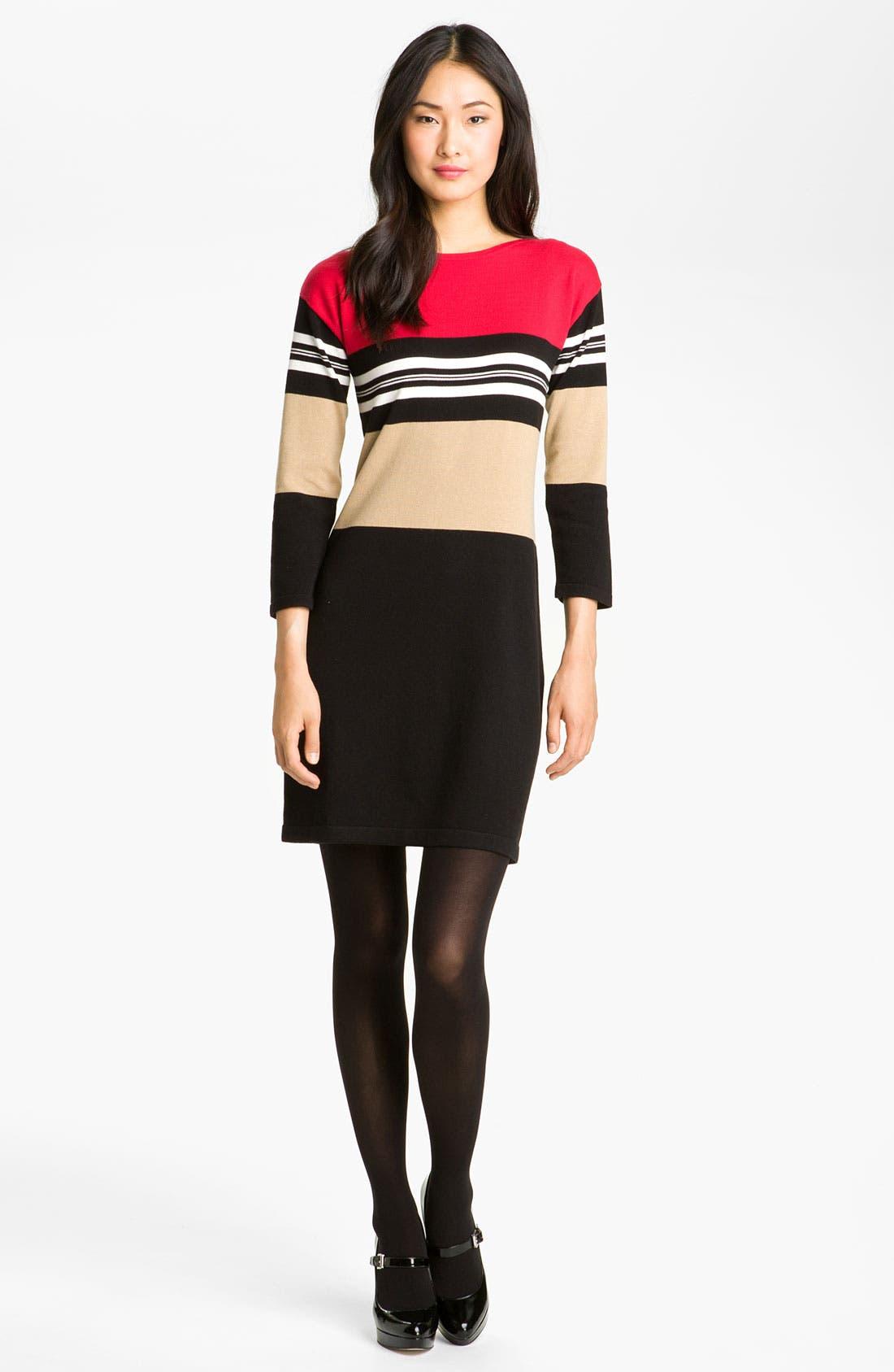 Alternate Image 4  - Calvin Klein Colorblock Knit Sweater Dress