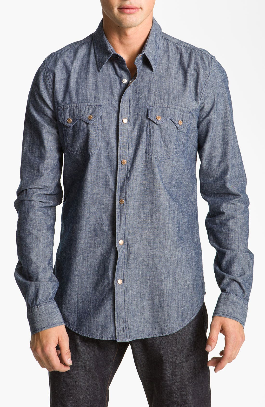 Alternate Image 1 Selected - Nudie 'Gusten' Chambray Shirt