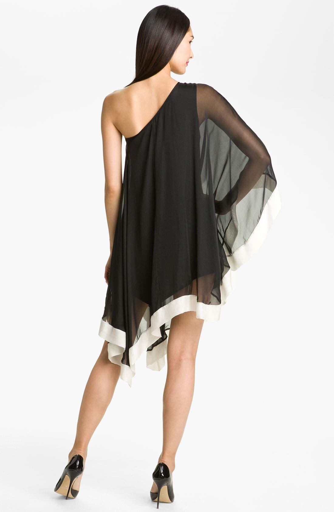 Alternate Image 2  - A.B.S. by Allen Schwartz One Shoulder Silk Dress