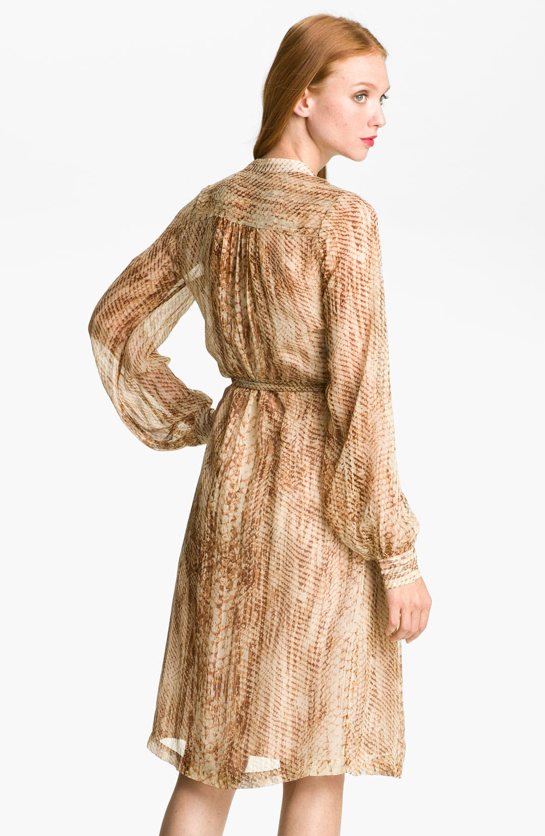 Alternate Image 2  - Lucky Brand 'Snakes Eyes' Silk Chiffon Shirtdress