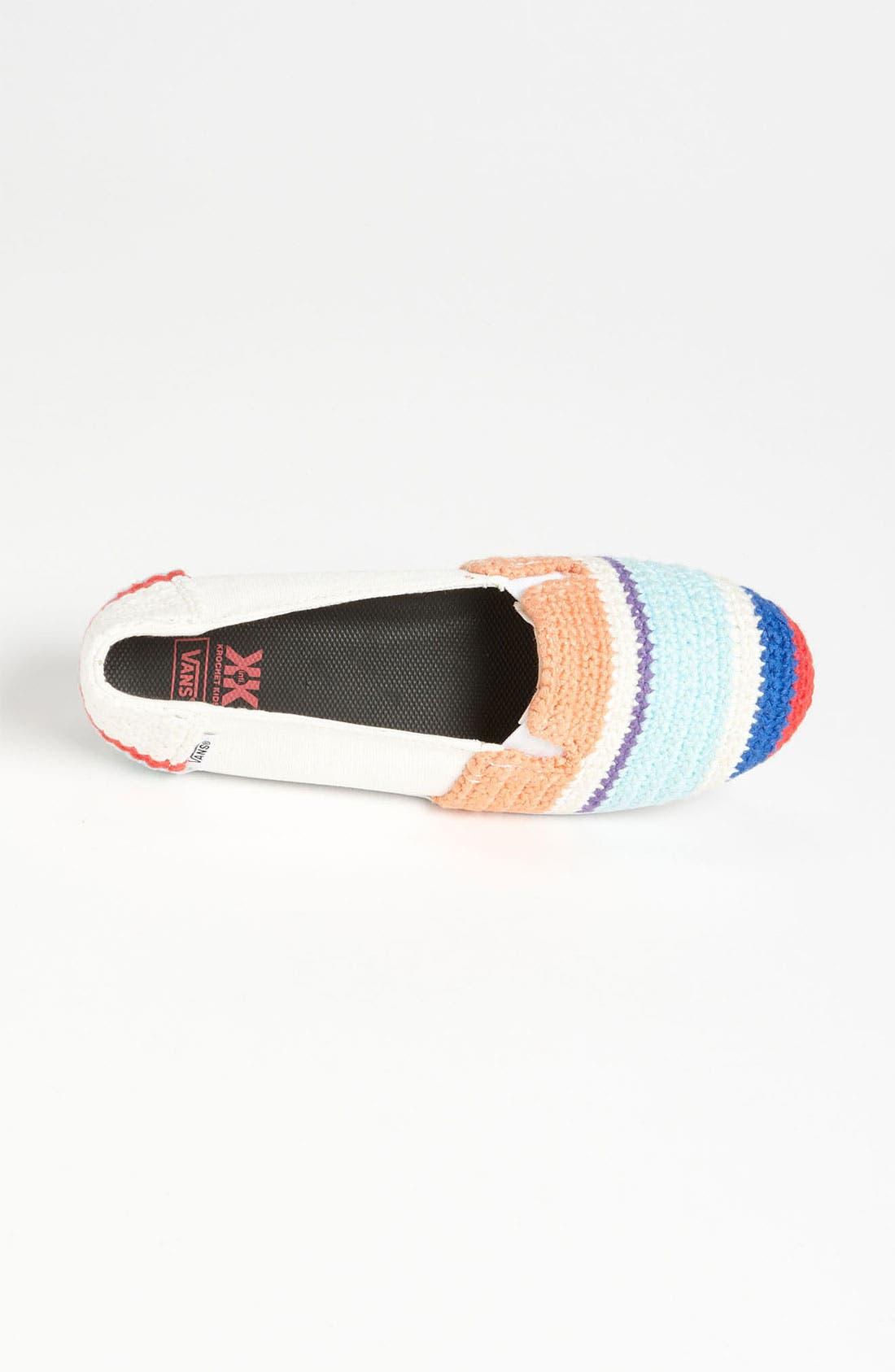 Alternate Image 3  - Vans + Krochet Kids 'Bixie' Crochet Slip-On