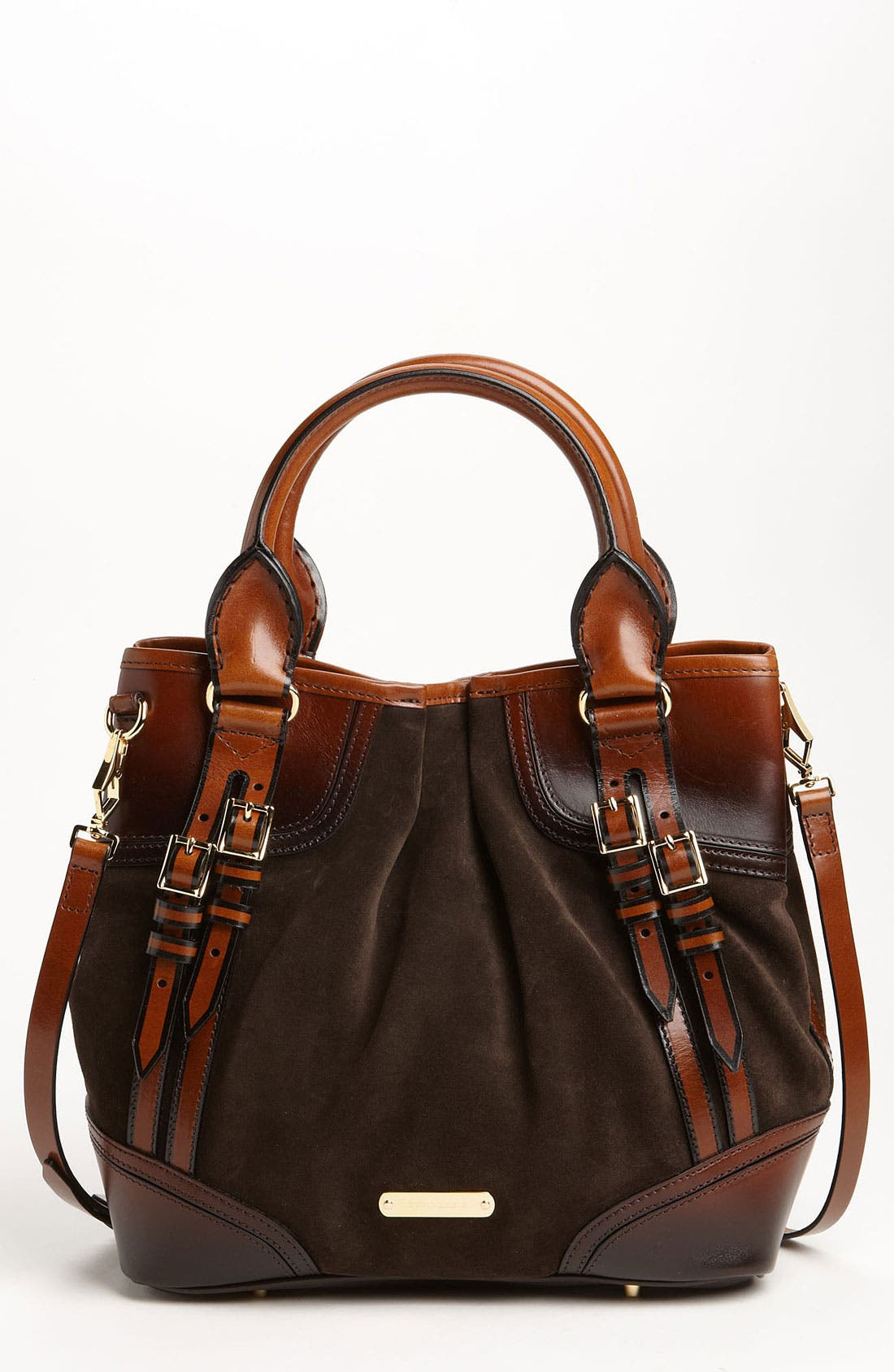 Alternate Image 1 Selected - Burberry Suede Tote