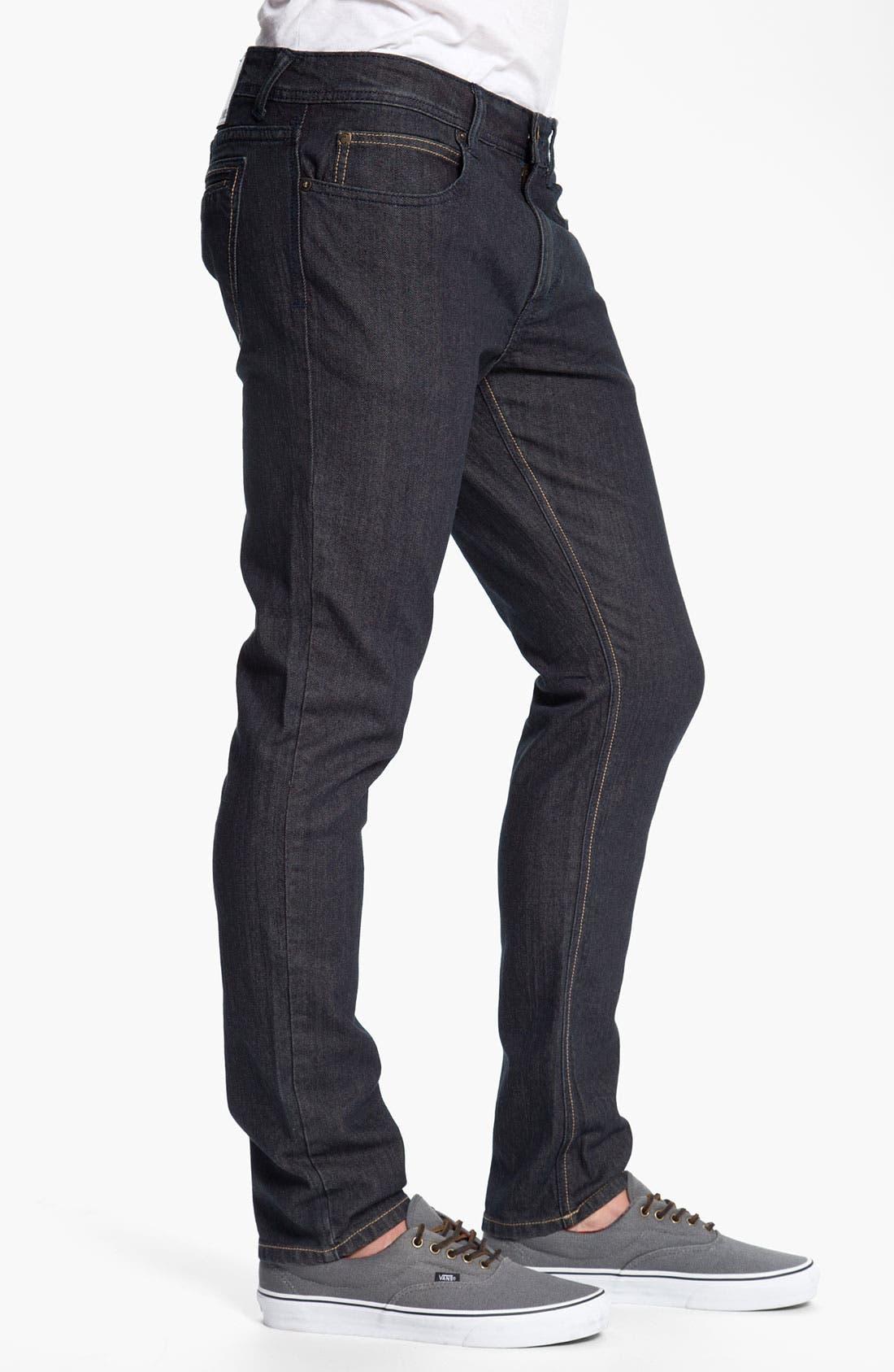 Alternate Image 3  - Ezekiel 'Chopper 305' Slouchy Slim Fit Jeans (Light Raw Indigo)
