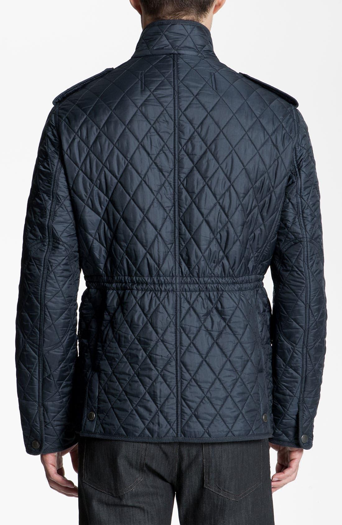 Alternate Image 2  - Burberry Brit Quilted Trim Fit Jacket