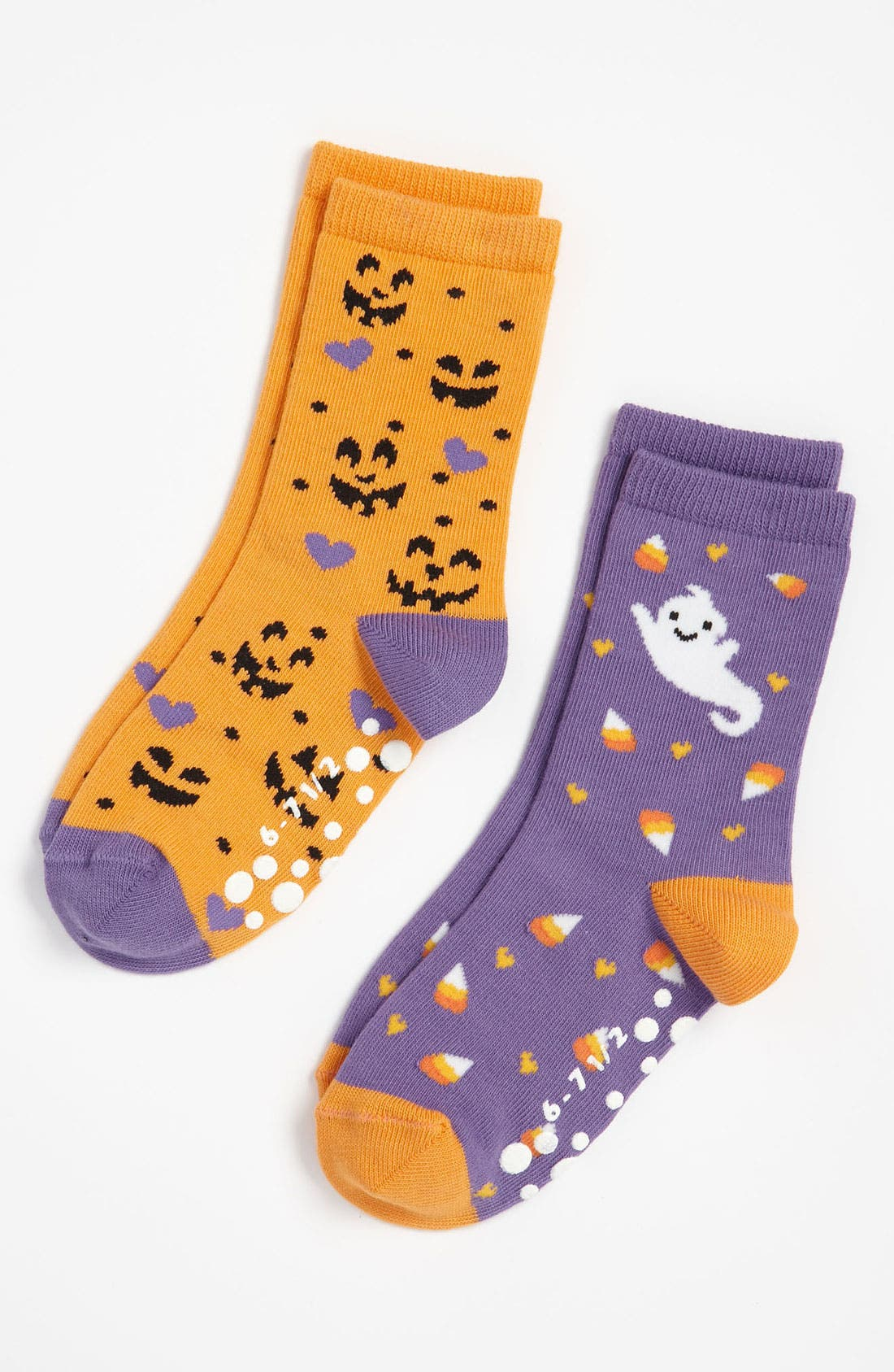 Alternate Image 1 Selected - Nordstrom 'Sweet Ghost' Crew Socks (2-Pack) (Toddler & Little Girls)
