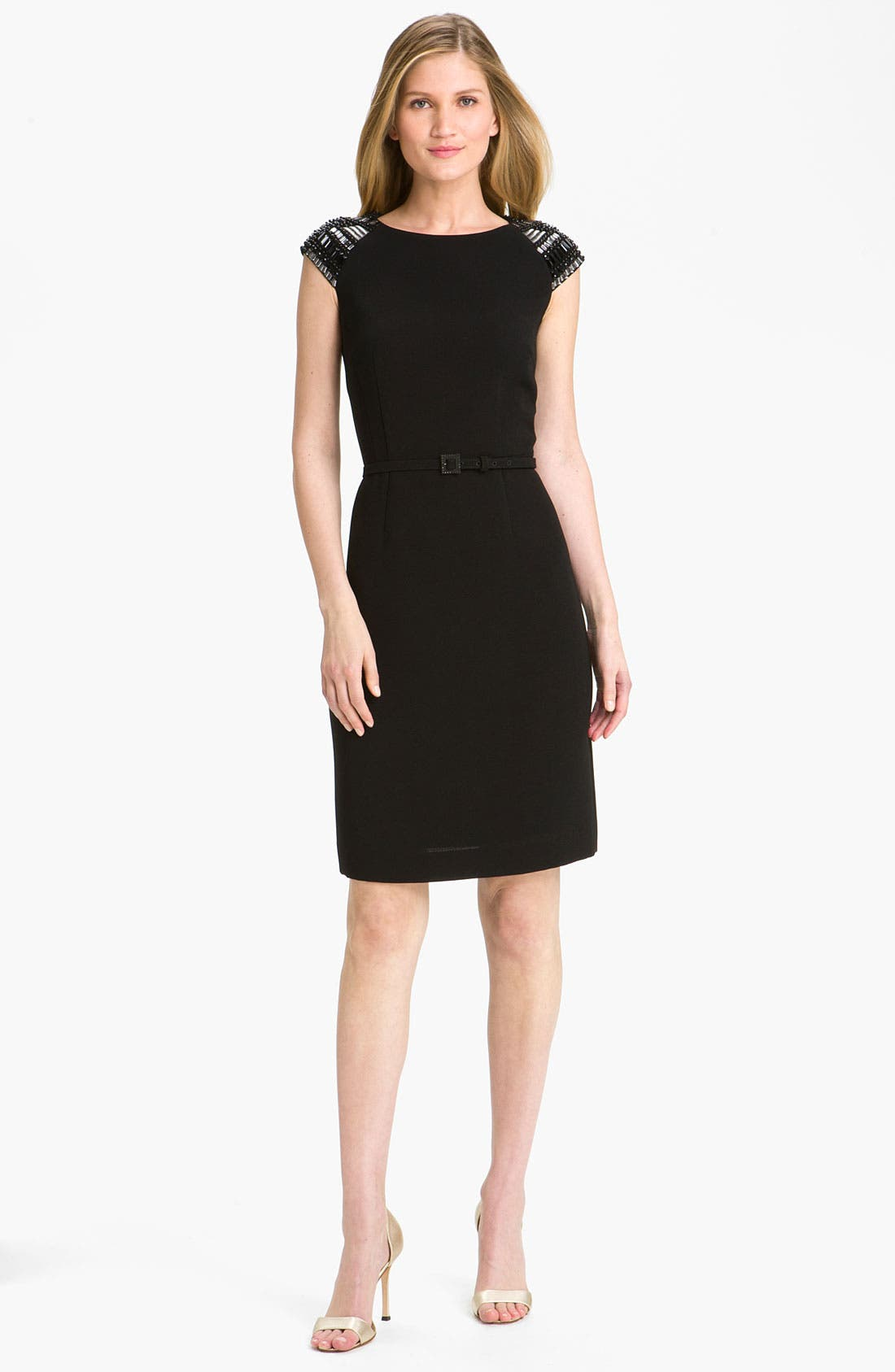 Alternate Image 3  - Tahari by Arthur S. Levine Embellished Cap Sleeve Sheath Dress