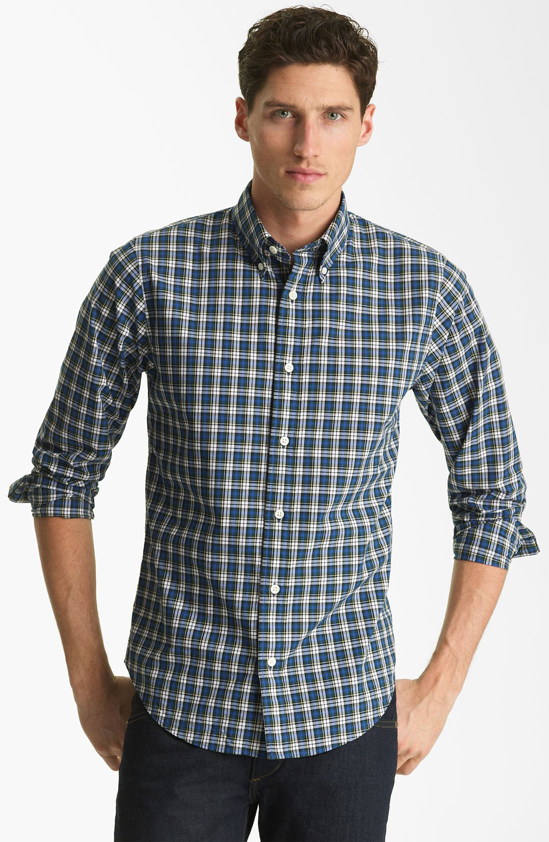 Alternate Image 1 Selected - Jack Spade 'Gibson' Plaid Woven Shirt