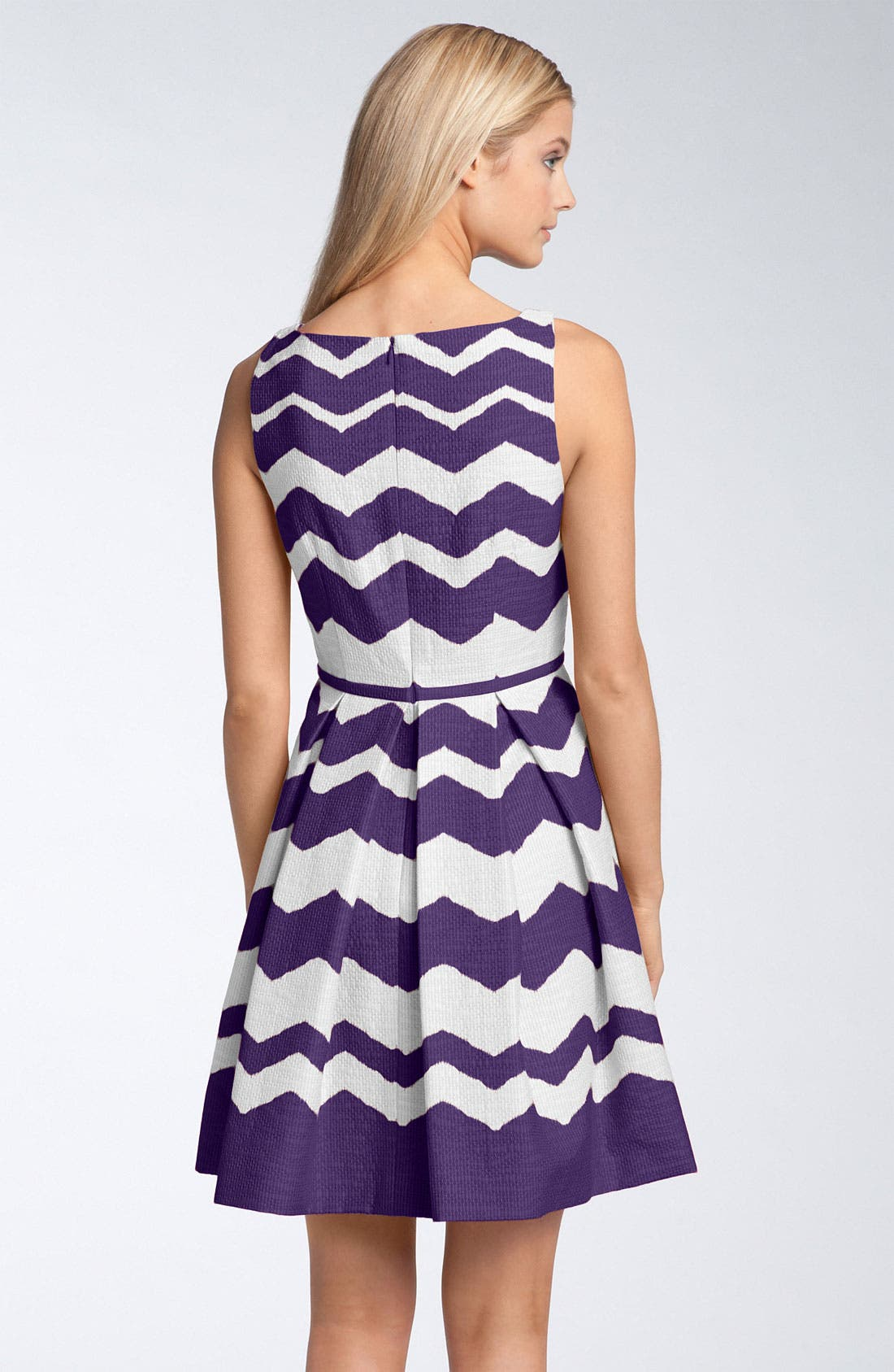 Alternate Image 2  - Taylor Dresses 'Zigzag' Fit & Flare Dress