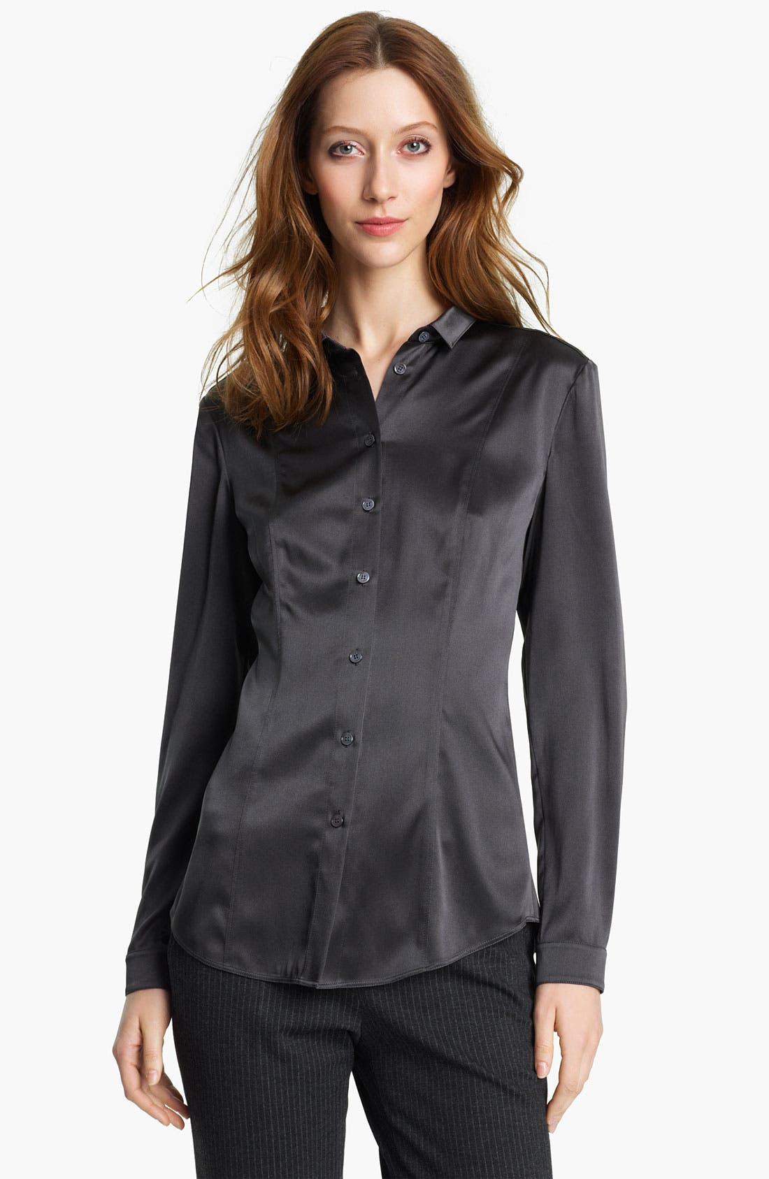 Alternate Image 1 Selected - Burberry London Stretch Satin Blouse