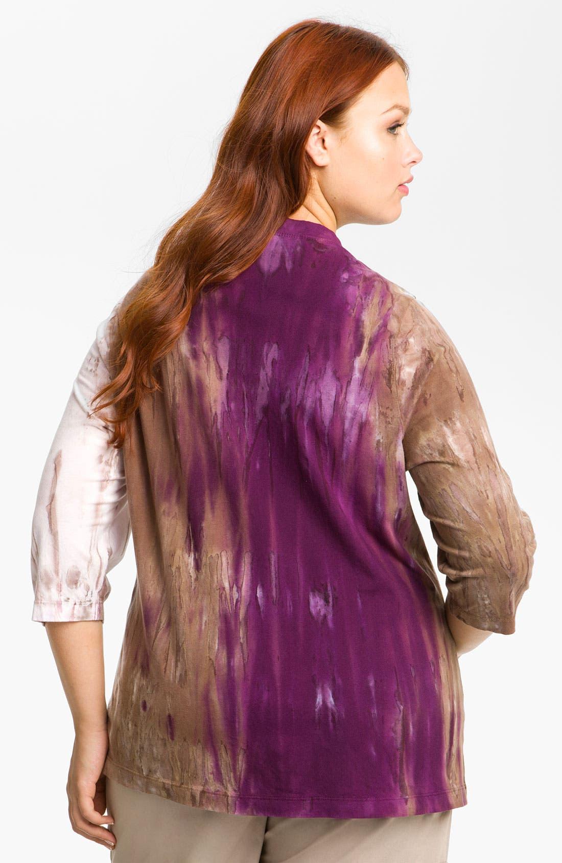 Alternate Image 2  - XCVI Wearables Burnout V-Neck Top (Plus)