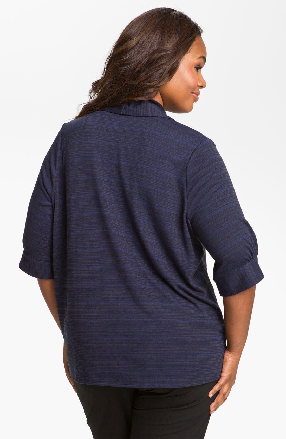 Alternate Image 2  - Sejour Open Front Knit Cardigan (Plus)