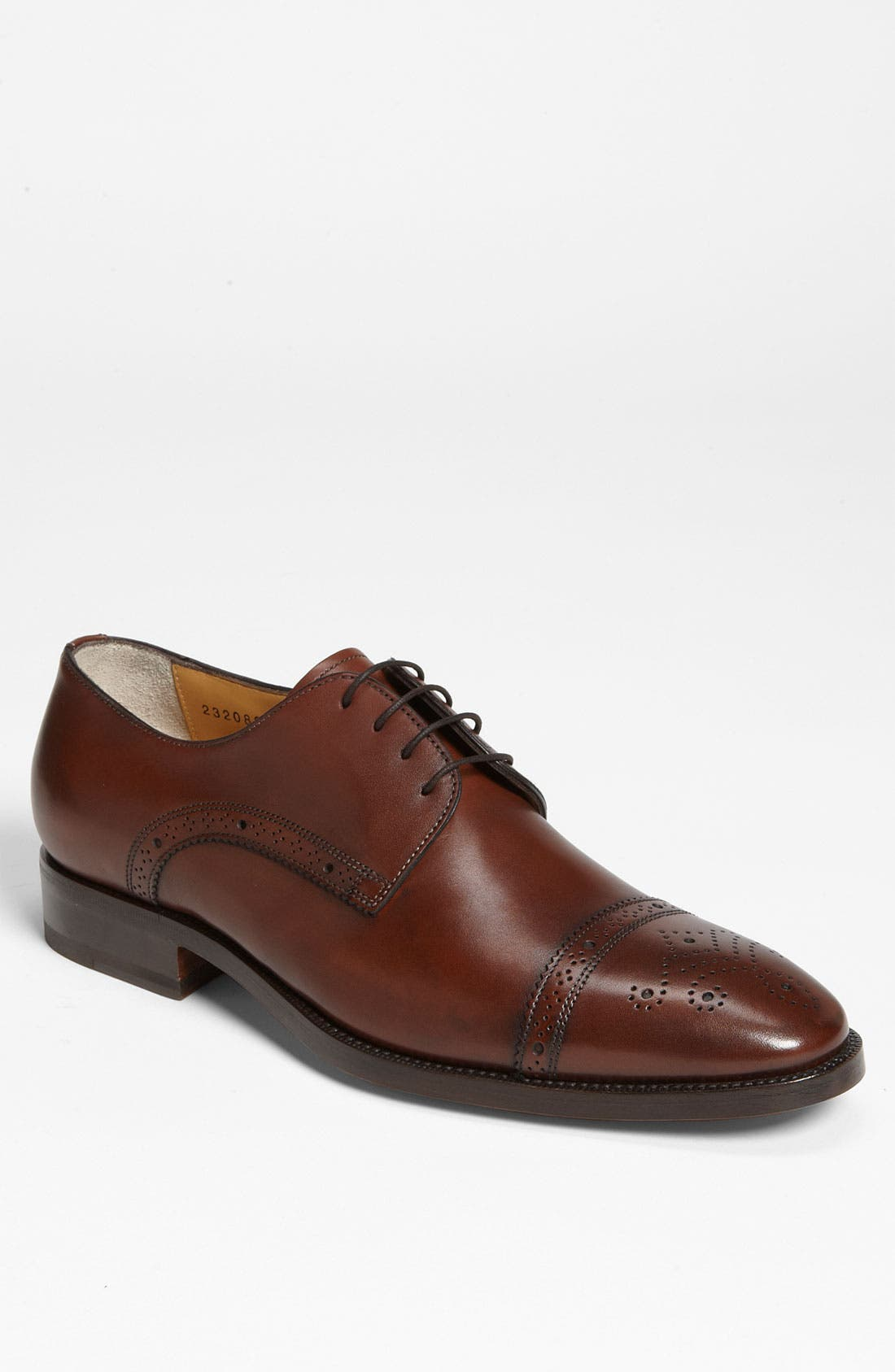 Main Image - Santoni 'Quebec' Cap Toe Oxford
