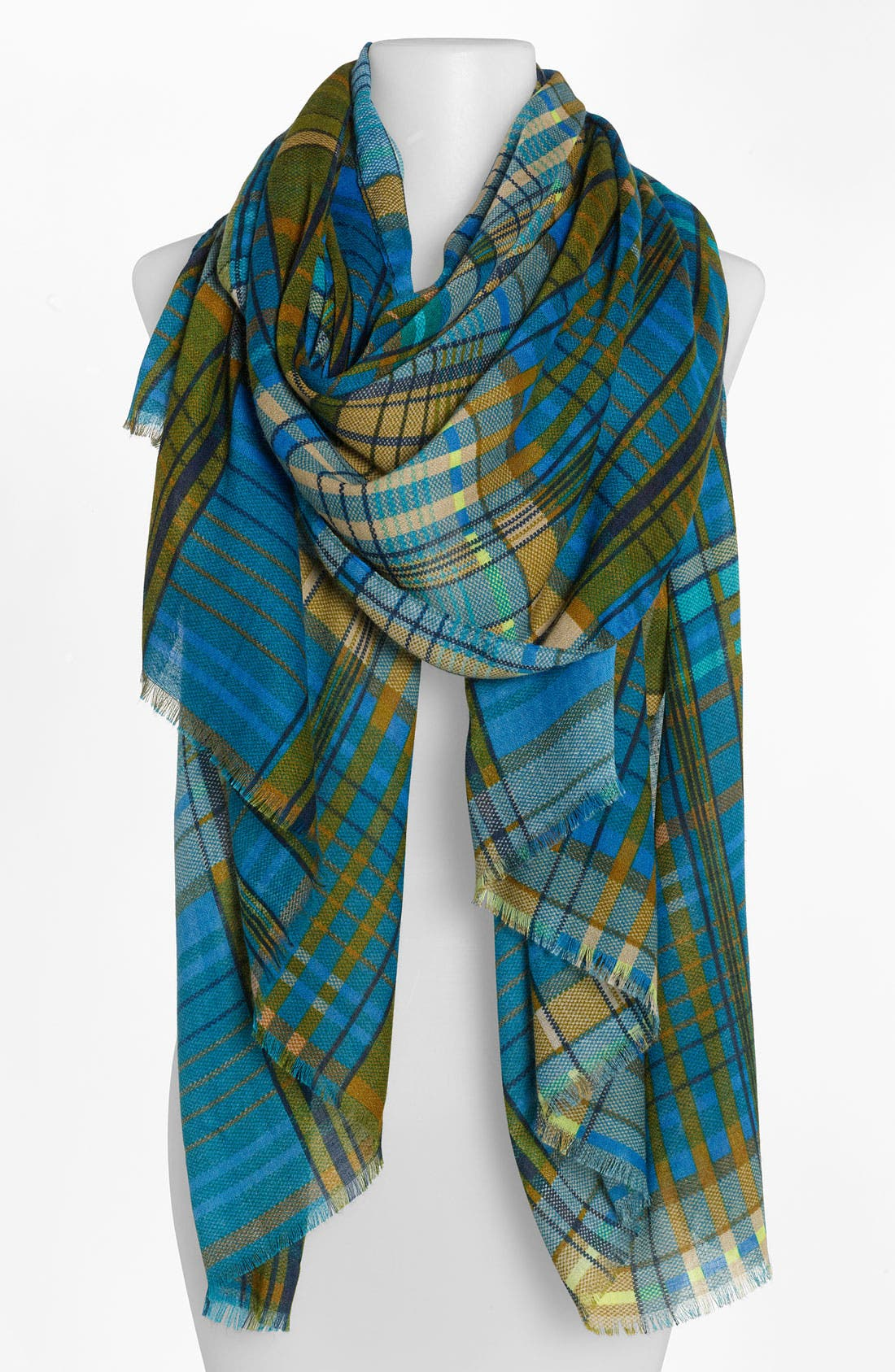 Main Image - Jessica Simpson 'Lovestory' Plaid Oblong Scarf