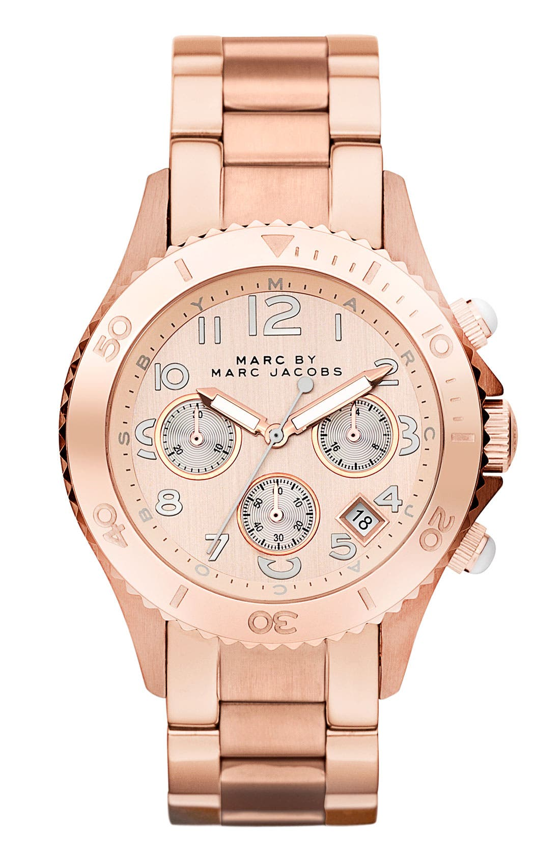 Main Image - MARC JACOBS 'Rock' Chronograph Bracelet Watch, 40mm