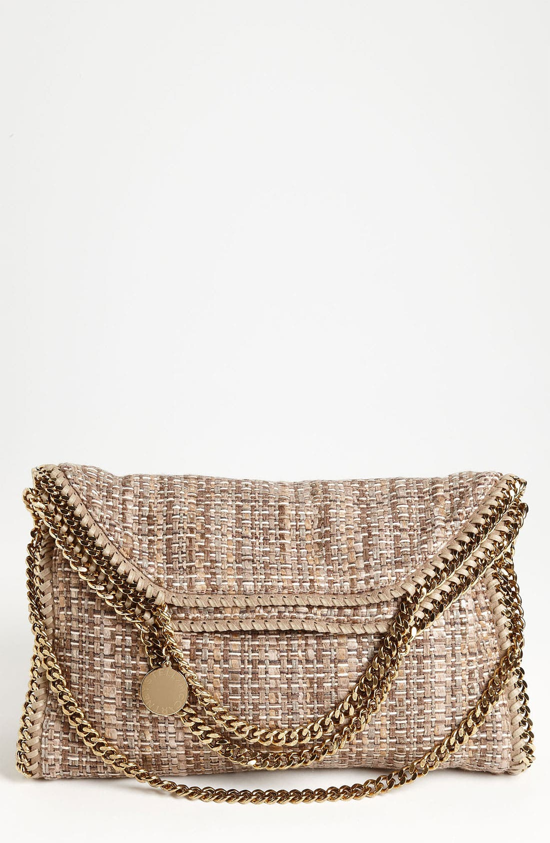 Alternate Image 1 Selected - Stella McCartney 'Falabella' Metallic Bouclé Foldover Tote