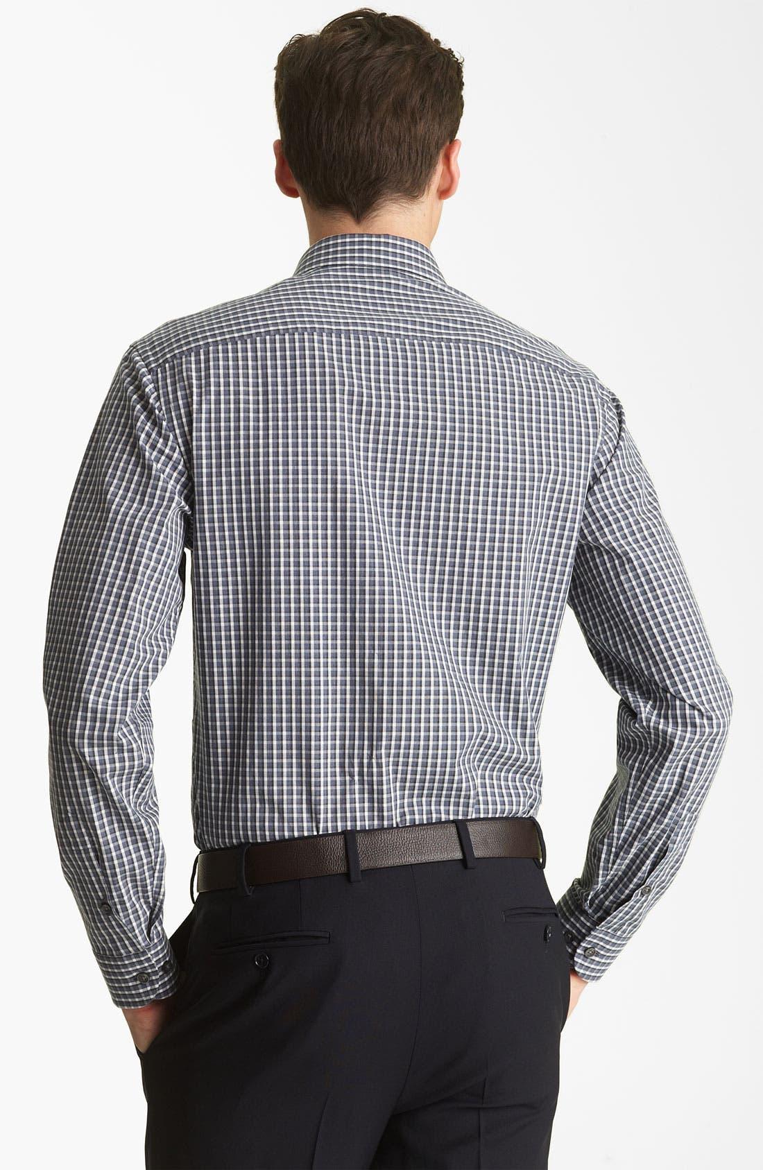Alternate Image 2  - Armani Collezioni Check Plaid Sport Shirt
