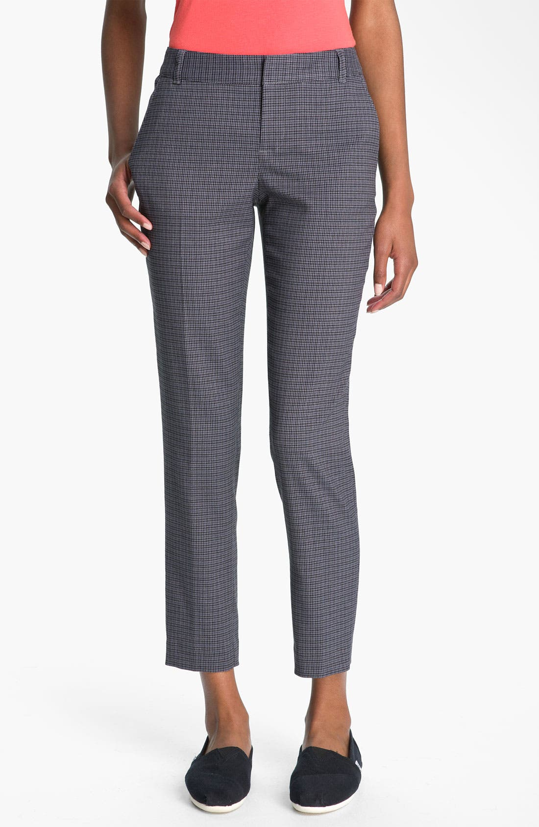 Main Image - BP. Plaid Slim Ankle Pants (Juniors)