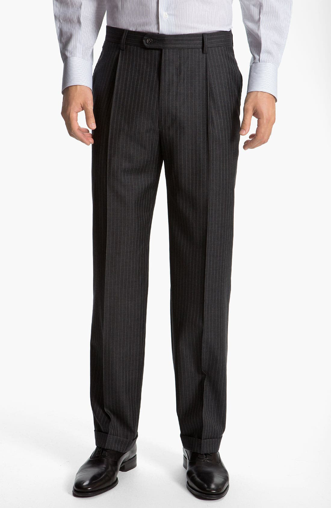 Alternate Image 4  - Joseph Abboud 'Signature Silver' Stripe Suit