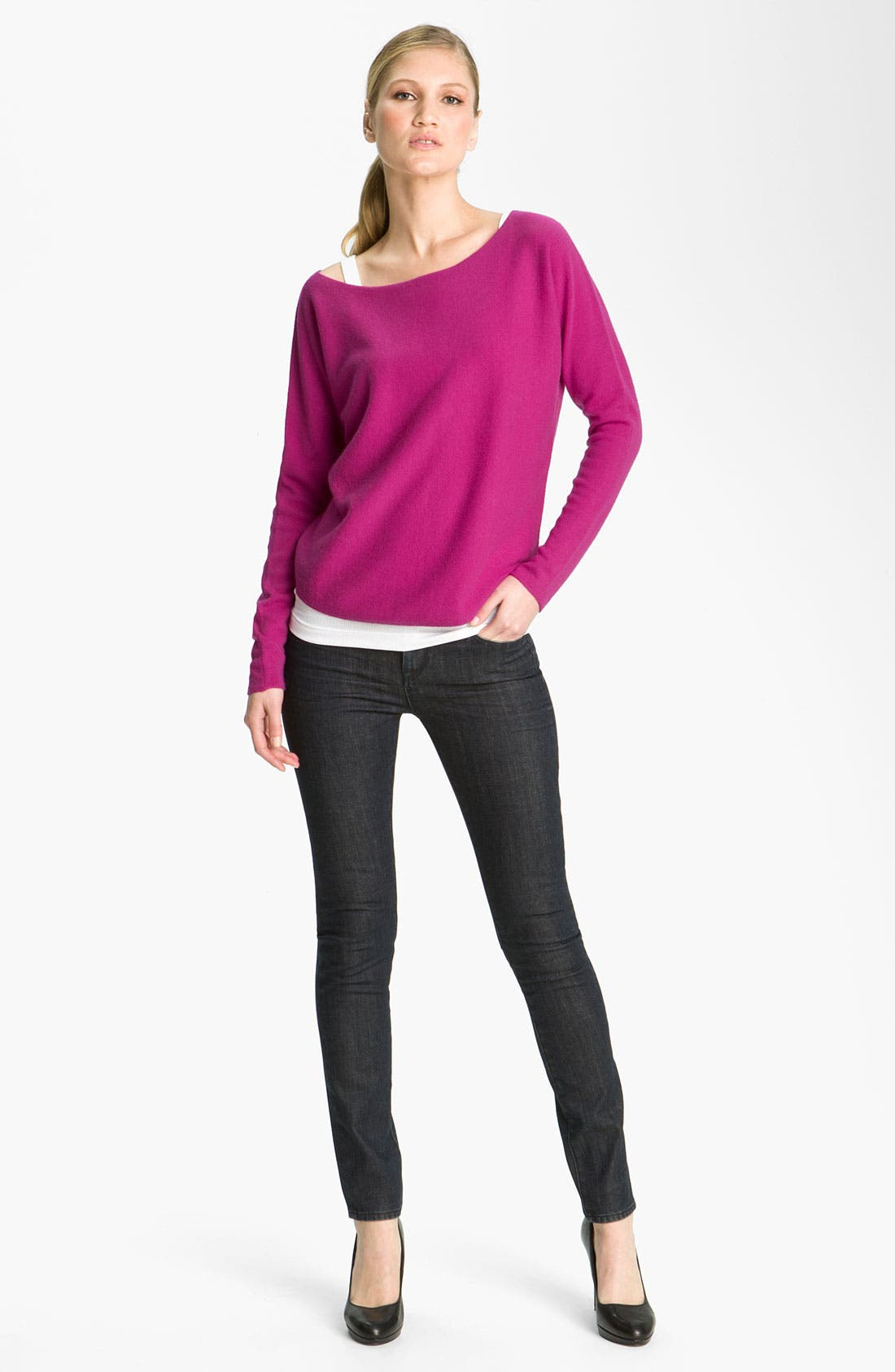 Alternate Image 1 Selected - Vince Boatneck Cashmere Sweater