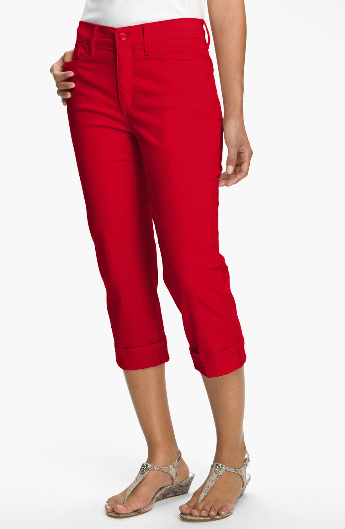 Alternate Image 1 Selected - NYDJ 'Edna' Colored StretchTwill Crop Jeans