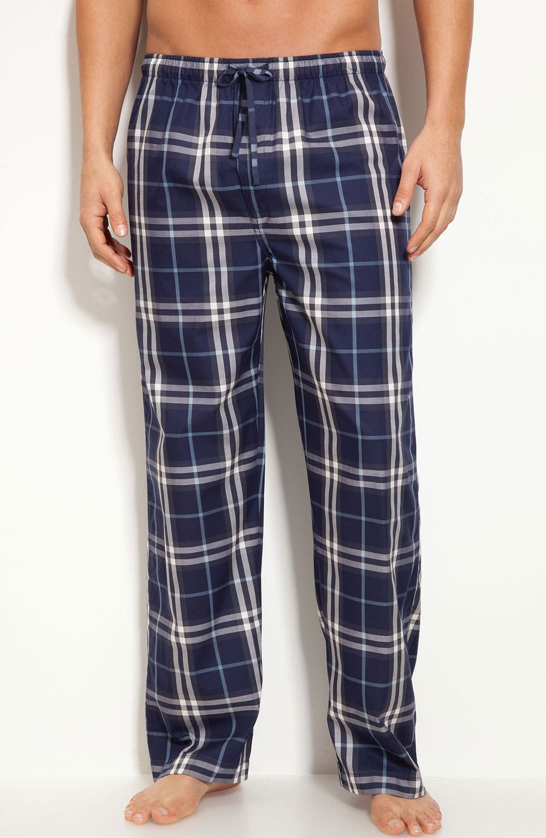 Main Image - Burberry Check Cotton Pajama Pants