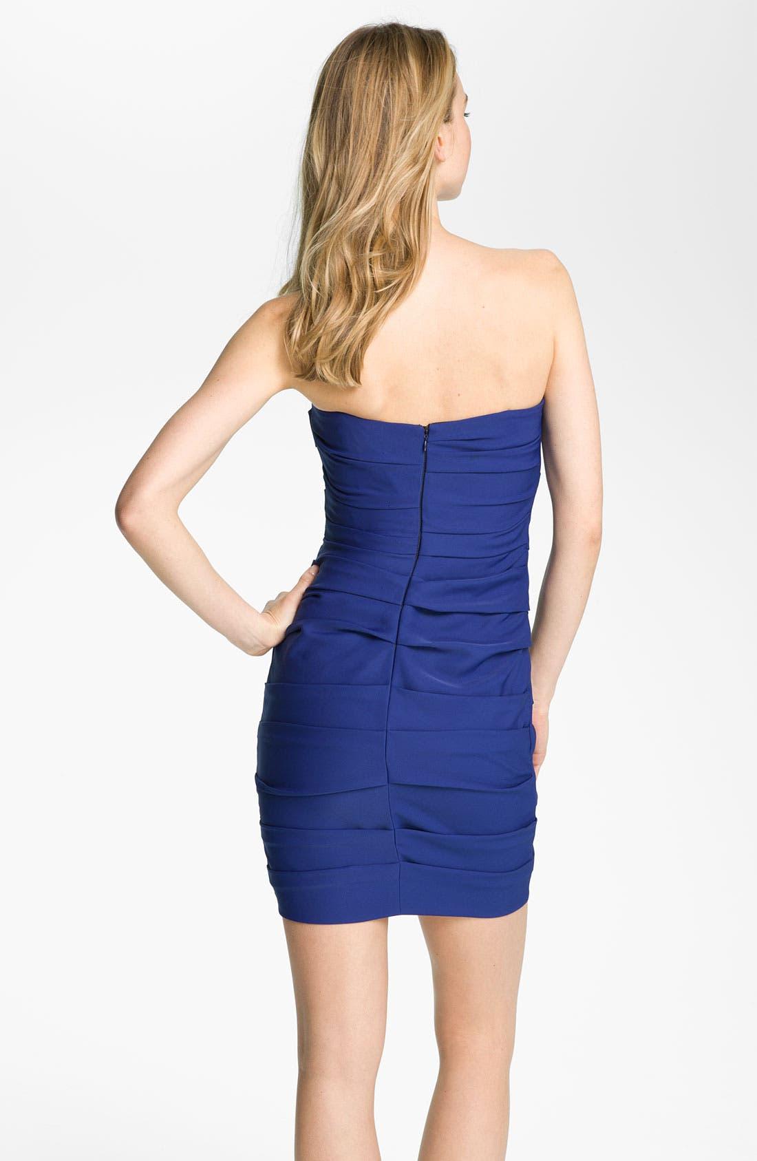 Alternate Image 2  - BCBGMAXAZRIA Short Shirred Jersey Dress
