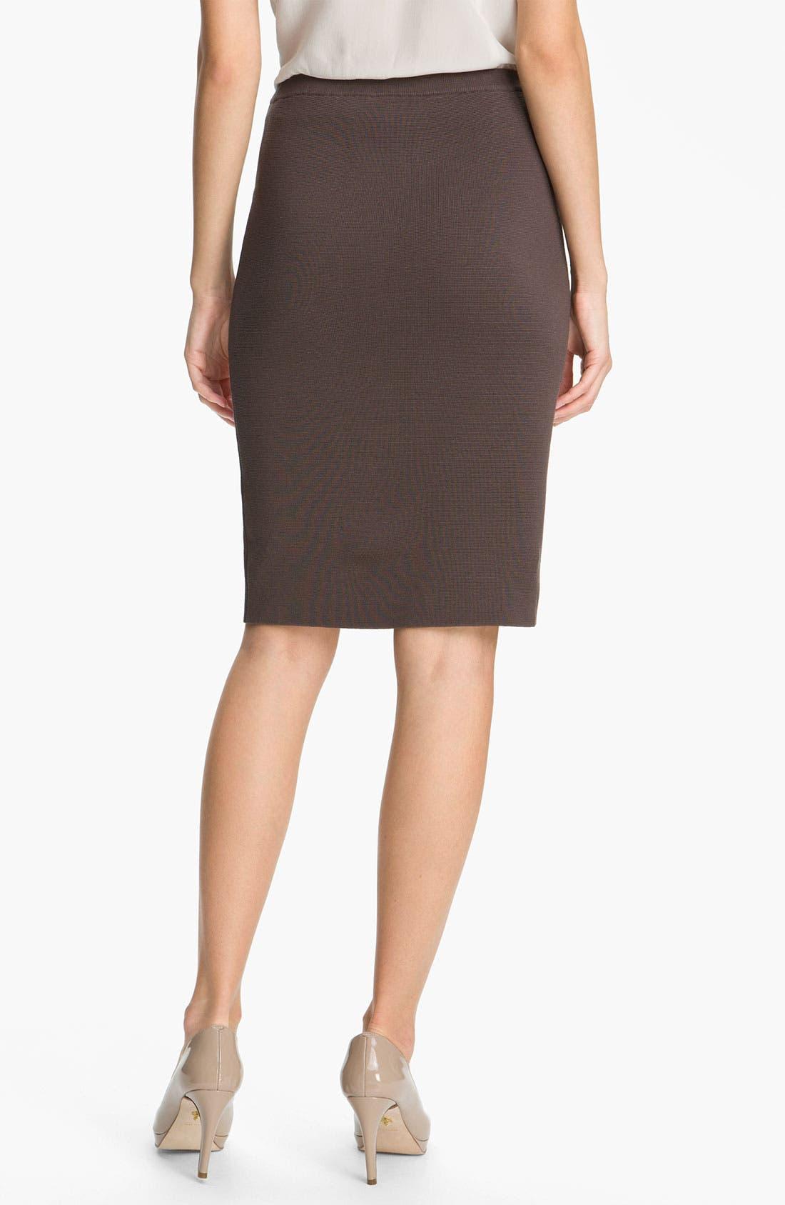 Alternate Image 2  - Eileen Fisher Silk Blend Knit Straight Skirt