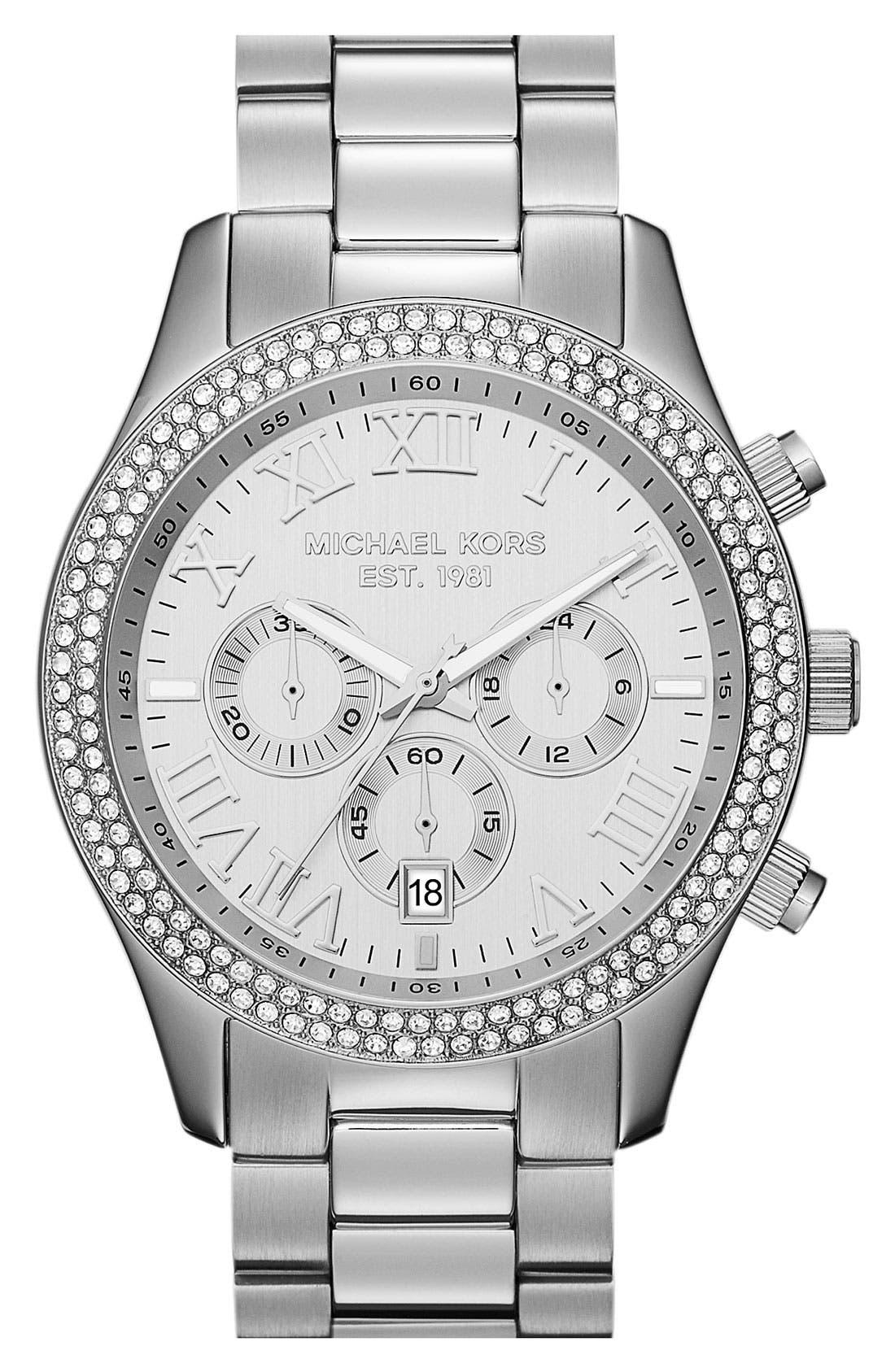 Alternate Image 1 Selected - Michael Kors 'Layton' Chronograph Bracelet Watch, 44mm