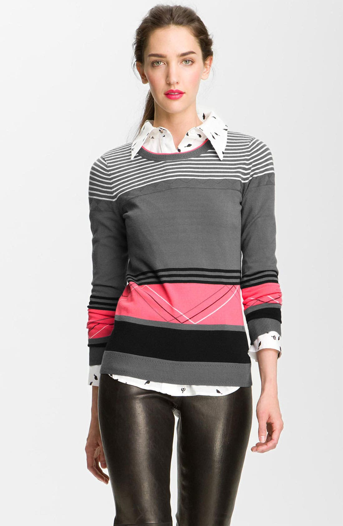 Alternate Image 1 Selected - Milly 'Felicity' Colorblock Sweater