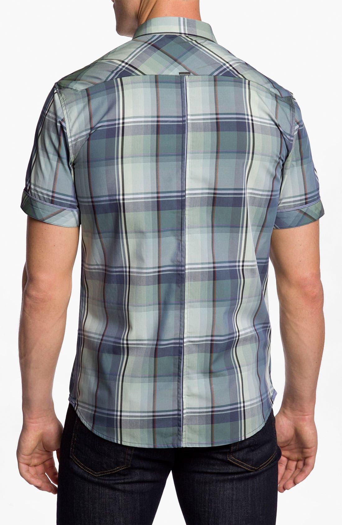 Alternate Image 2  - 7 Diamonds 'Green Eyed Love' Plaid Woven Short Sleeve Shirt