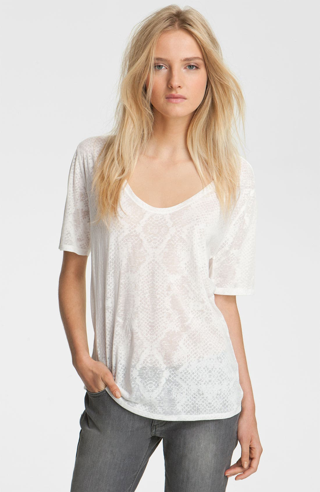 Alternate Image 1 Selected - Zadig & Voltaire 'Anyta' Burnout Tee