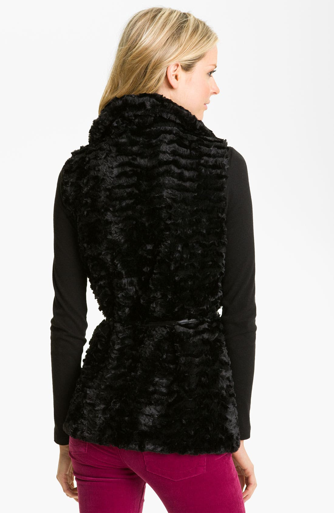 Alternate Image 2  - Gallery Reversible Crushed Faux Fur Vest